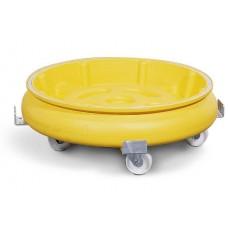 Fassroller mit Auffangwanne aus Polyethylen (PE), gelb