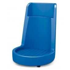 Fassroller Poly200 S aus Polyethylen (PE), mit Schürze mit integriertem Schiebebügel, blau