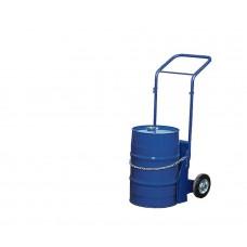 Ballonkarre BK-60 aus Stahl, blau lackiert, Vollgummi-Bereifung, für Gebinde bis 60 Liter