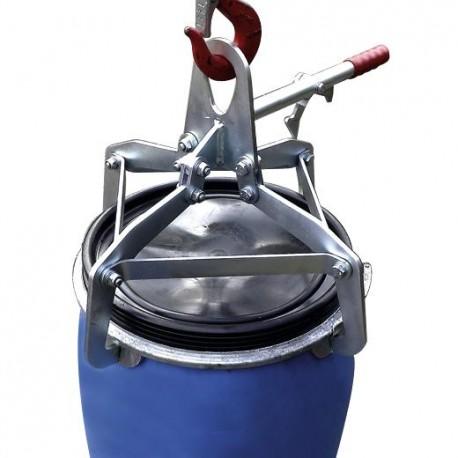 Spannklauengreifer für 120-Liter-Kunststoff-Deckelfässer