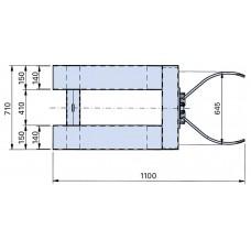 Fassklammer FK, Stahl, lackiert, für 1 x 200-l-Stahl-Sickenfass