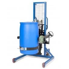 Fasslifter FW-DX aus Stahl, lackiert, mit Drehkurbel, für 200-/220-L-Stahl- und Kunststofffässer