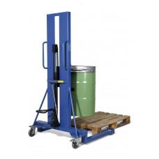 Fasslifter FL 16-K F aus Stahl, lackiert, mit Fußpumpe, für 200-l Stahlfässer
