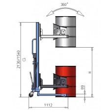 Fasslifter FW 12 aus Stahl, lackiert, mit Hydraulikpumpe, für 60- bis 220-l-Fässer