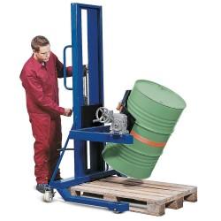 Fasslifter FW 16-F aus Stahl, lackiert, mit Hydraulik-Fußpumpe, für 60- bis 220-l-Fässer kaufen