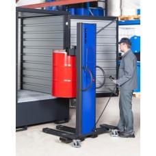 Fasslifter Secu Drive, schmales Fahrwerk, H 2135 mm, Typ SK für 200-/220-l-Fässer, elektr. Hub