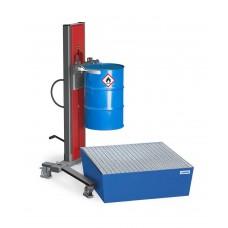 Fasslifter Secu Ex, gespreiztes Fahrwerk, H 2255 mm, Typ SK für 200-/220-l-Fässer, AtEx
